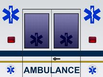 Ambulance car illustration Stock Photography