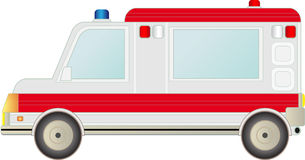 Ambulance car isolated Royalty Free Stock Photography