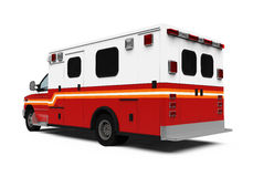 Ambulance Car Isolated Royalty Free Stock Photo