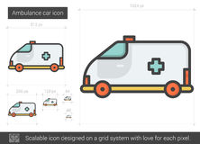 Ambulance car line icon. Stock Photo