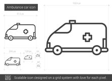 Ambulance car line icon. Royalty Free Stock Photography