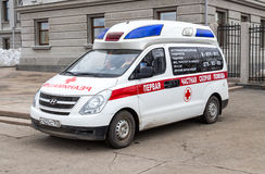 Ambulance car parked up in the street Royalty Free Stock Photography
