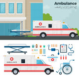 Ambulance car on the street in city Royalty Free Stock Photo