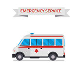 Ambulance car vector illustration Royalty Free Stock Photography