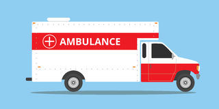 Ambulance car vehicle emergency with fast come. Vector Royalty Free Stock Photos