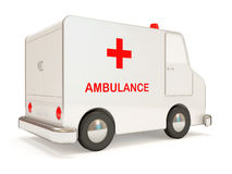Ambulance Car on white background Royalty Free Stock Photo