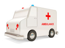 Ambulance Car on white background Stock Photos
