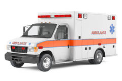 Ambulance car. At the white background Stock Photography