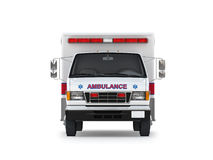 Ambulance Car  on White Background. Front View Stock Photography
