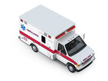 Ambulance Car  on White Background. Isometric Front View Royalty Free Stock Photography