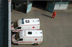 Ambulance cars Stock Photo
