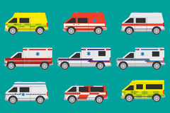 Ambulance cars Stock Photo
