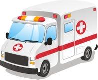 Ambulance cartoon illusttration vector illustration