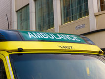 Ambulance in City Centre Stock Photos