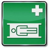 Ambulance, civière et pièce de relaxation Images libres de droits