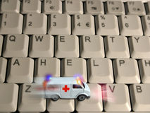 Ambulance concept - technologies healthcare Stock Photography