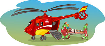 Ambulance d'hélicoptère Images stock