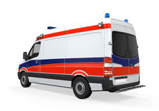 Ambulance d'isolement Photo stock