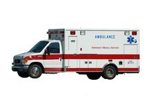 Ambulance d'isolement sur le blanc Image libre de droits