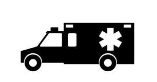 Ambulance de secours avec la conception plate de sirène Illustration de vecteur illustration stock