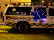 Ambulance de services médicaux de secours, Bangkok, Thaïlande photos stock
