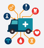 Ambulance design. Over background vector illustration Stock Photos