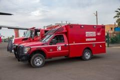 Ambulance du Maroc Photographie stock