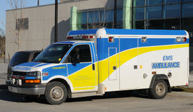 Ambulance - Emergency. Truck, parked at hospital royalty free stock images