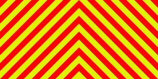 Ambulance emergency background sign yellow and red stripes diagonally, ambulance emergency diagonal stripes. Ambulance emergency sign background yellow and red Stock Image