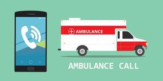 Ambulance emergency call vehicle. Illustration vector concept Vector Illustration
