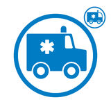 Ambulance emergency car icon. Royalty Free Stock Photos