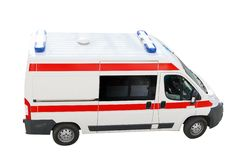 Ambulance emergency car top perspective. Isolated Royalty Free Stock Images