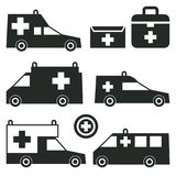 Ambulance or Emergency cars signs or symbols Stock Photo