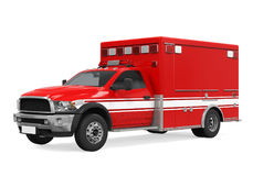 Ambulance Emergency Fire Truck Isolated Stock Photography