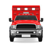 Ambulance Emergency Fire Truck Isolated. On white background. 3D render Stock Photography