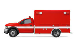 Ambulance Emergency Fire Truck Isolated. On white background. 3D render Stock Photo