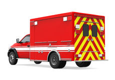 Ambulance Emergency Fire Truck Isolated. On white background. 3D render Royalty Free Stock Image
