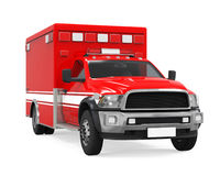 Ambulance Emergency Fire Truck Isolated Royalty Free Stock Photo