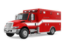 Ambulance Emergency Fire Truck Isolated. On white background. 3D render Stock Images