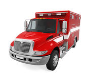Ambulance Emergency Fire Truck Isolated. On white background. 3D render Stock Image