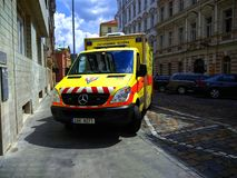 Ambulance of the Czech Republic stock images