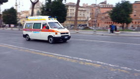 Ambulance in Emergency stock footage