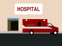 Ambulance and Emergency room Stock Photography