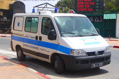 Ambulance, emergency in Sousse Tunisia Royalty Free Stock Photography