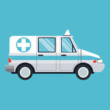 Ambulance emergency transport help Royalty Free Stock Images