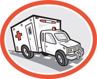 Ambulance Emergency Vehicle Cartoon Royalty Free Stock Image