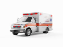 Ambulance emergency on a white background. 3D rendering Stock Photos