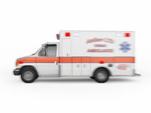 Ambulance emergency on a white background. 3D rendering Royalty Free Stock Photography