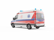 Ambulance emergency on a white background. 3D rendering Royalty Free Stock Photo