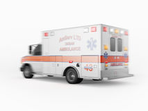 Ambulance emergency on a white background. 3D rendering Stock Photography